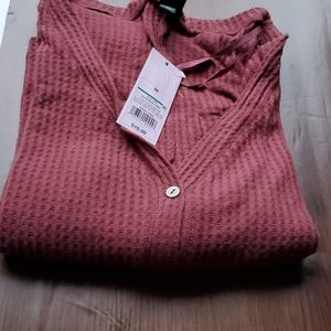 Women's LongSleeve V-Neck Button-Front Thermal Top